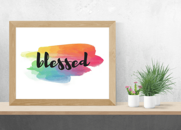 colorful blessed art printable