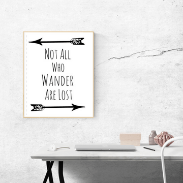 not all who wander are lost printable