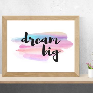 dream big printable art