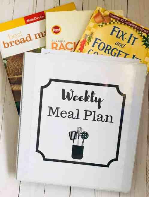 free weekly meal planning printable