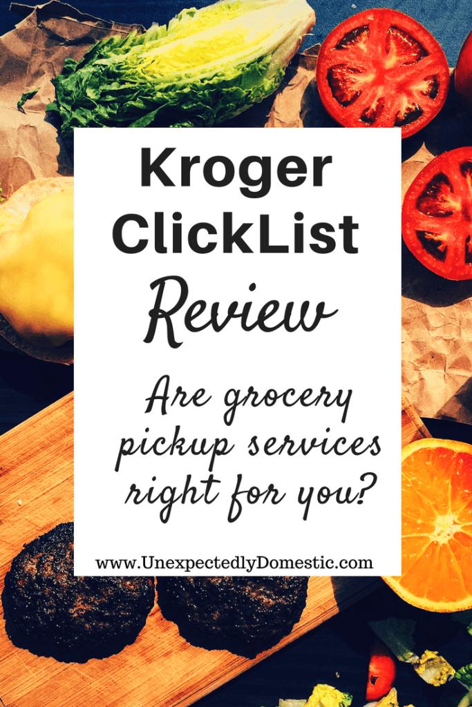 Kroger ClickList review