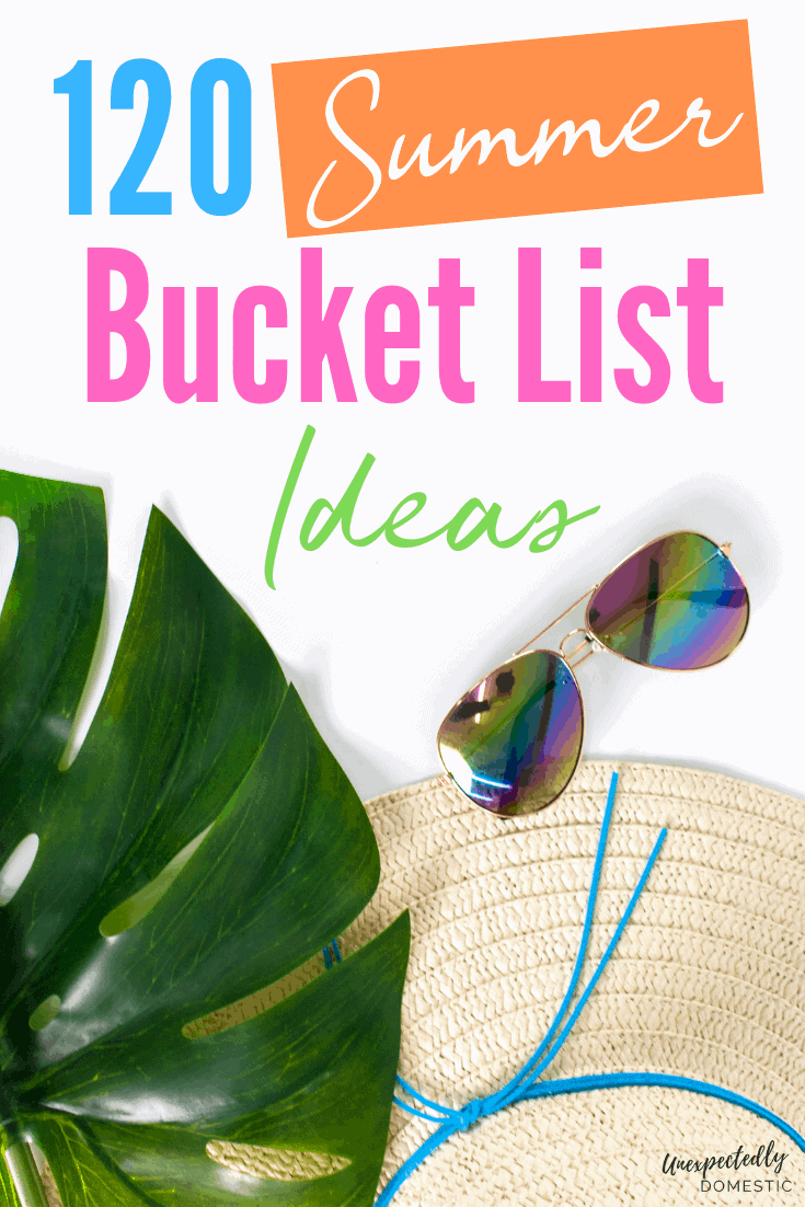 Check out this Ultimate Summer Bucket List, with 120 cheap summer activities and free things to do in the summer. Check out these fun summer activities!