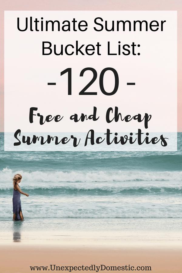 Cheap Summer Bucket List