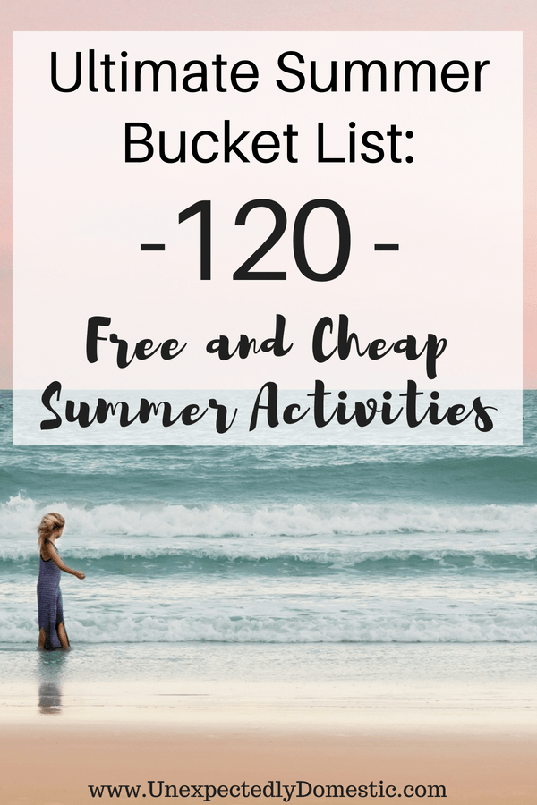 Cheap Summer Bucket List