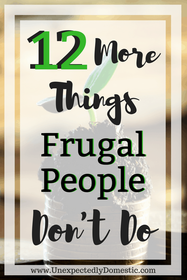 habits of frugal people