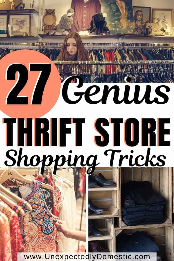 Wanna be fabulous on a budget? Check out these 27 thrift store shopping tips. Use these thrift shopping tricks to help you score amazing finds.