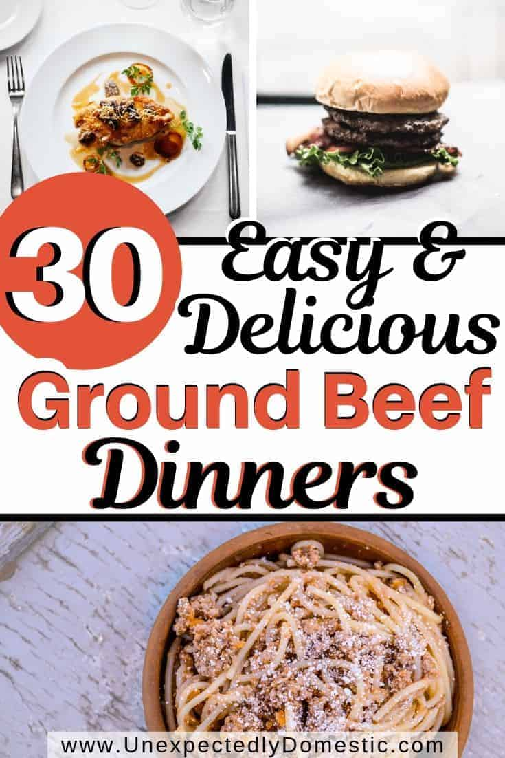 Wondering what to do with that pound of ground beef? Look no further than these 30 simple ground beef recipes. Simplify meal planning!