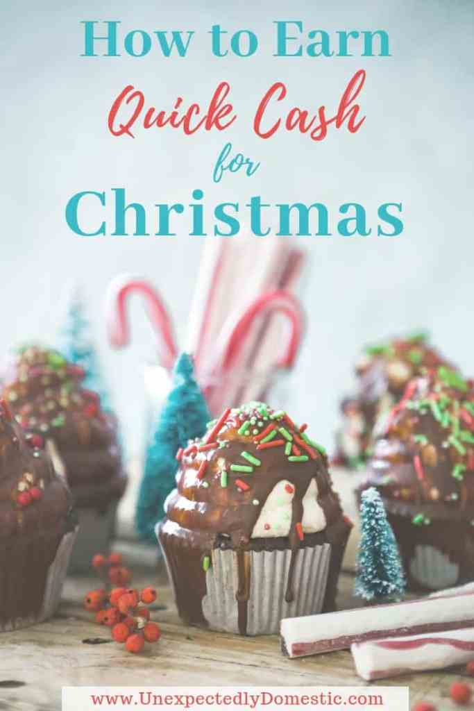 Learn how to make extra money for Christmas. These 21 easy ideas to make quick cash for the holidays will help you make money fast!