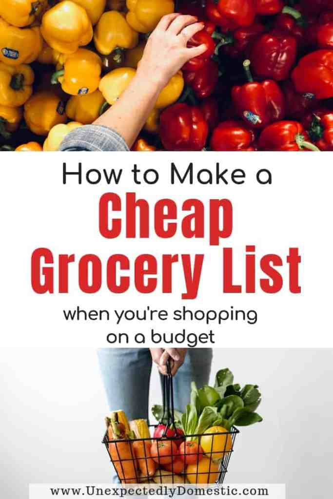 Whether you're broke, or just on a budget, check out how to make a cheap grocery list. Enjoy saving money and eating good food on a budget!