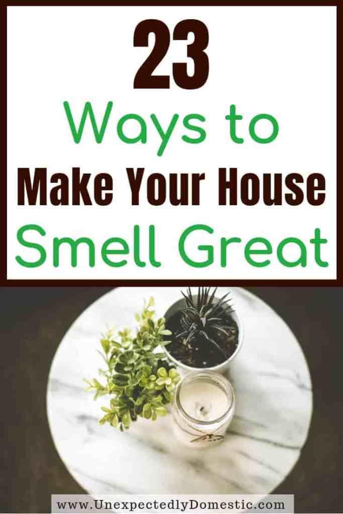 hacks to make house smell nice