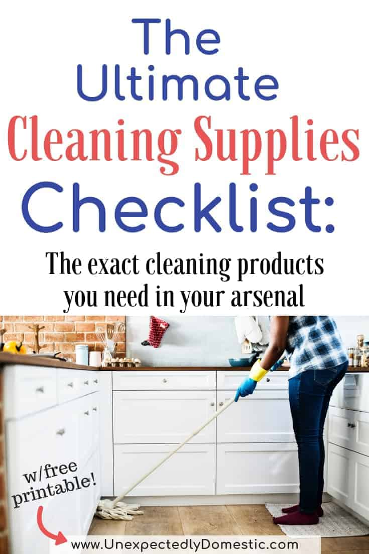 graphic about Cleaning Supplies List Printable called Final Cleansing Elements List: Your Should really Comprise