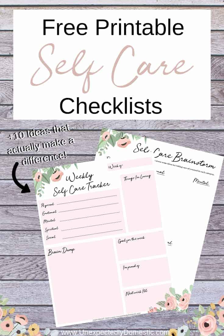 picture about Brain Dump Template referred to as Self Treatment List (+ 10 Plans That Will Seriously Nourish By yourself!)