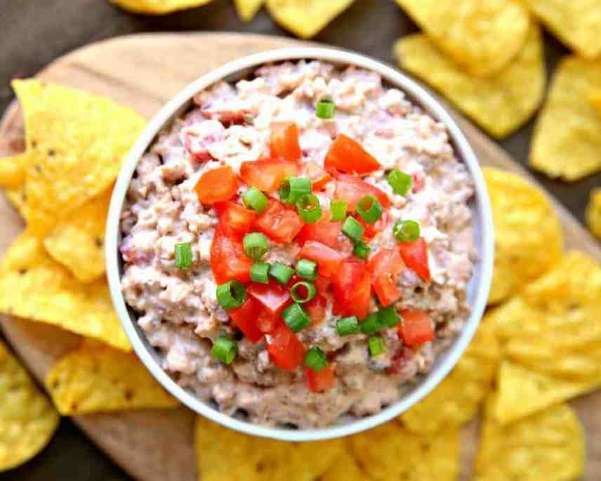 The very best cream cheese dips! Including hot and cold dip recipes, from sweet to savory. So good with veggies, tortilla chips or crackers!