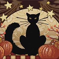 Fall Moonlight Cat Floor Mat