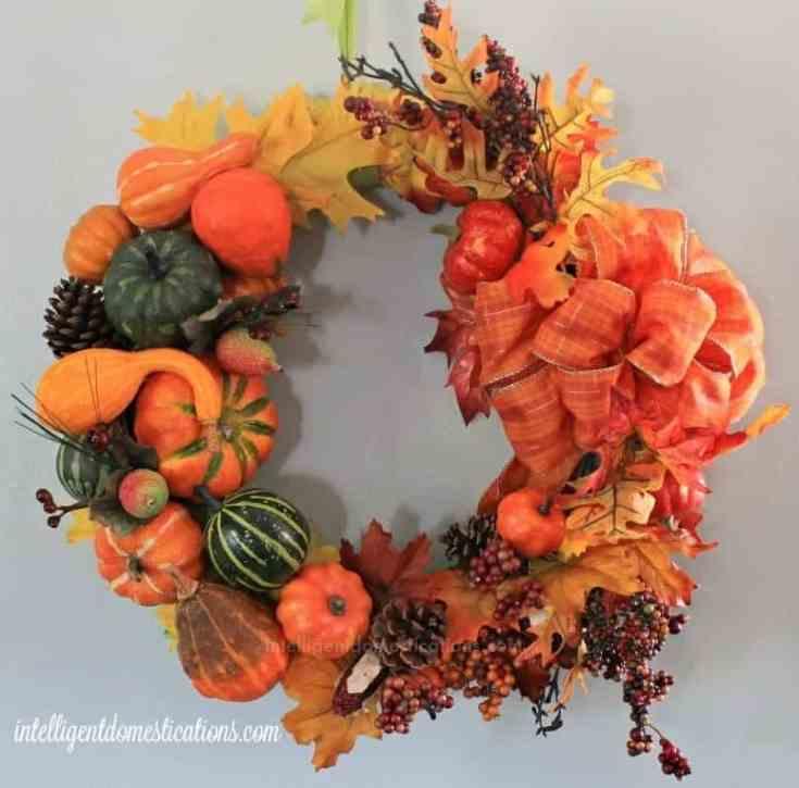 DIY Cornucopia Wreath