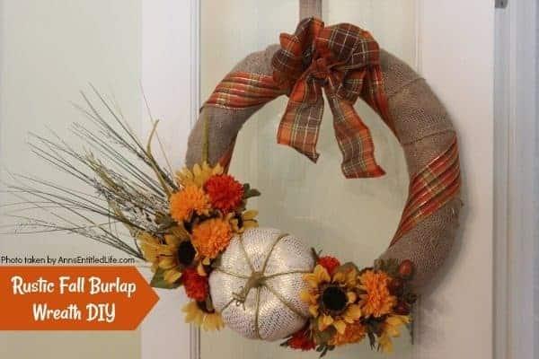 Rustic Fall Burlap Wreath DIY