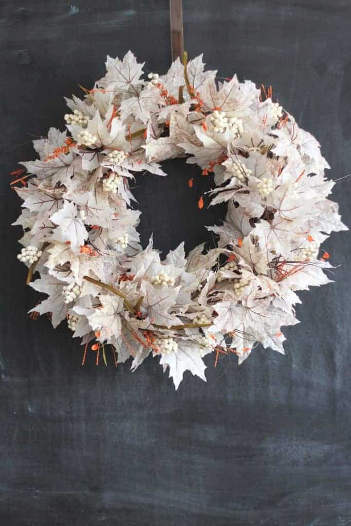White Leaf Fall Wreath