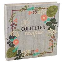 Vintage Flowers Fabric-Covered Recipe Binder