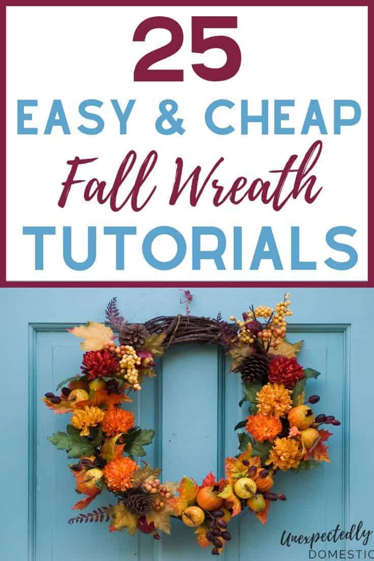 25 DIY Fall Wreath Tutorials to Embellish Your Front Door