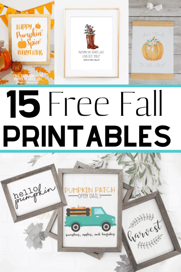 Free fall printables to make fall decorating on a budget easy! These autumn printables are beautiful - vintage, rustic farmhouse, watercolor, and more!