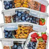 3 Compartment Glass Food Storage Containers with Lids