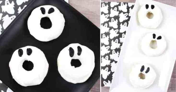 Easy Halloween Ghost Doughnuts