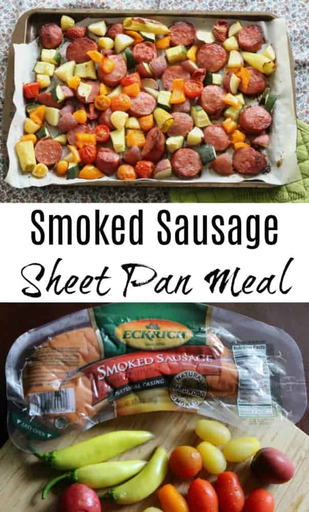 Smoked Sausage Sheet Pan Meal