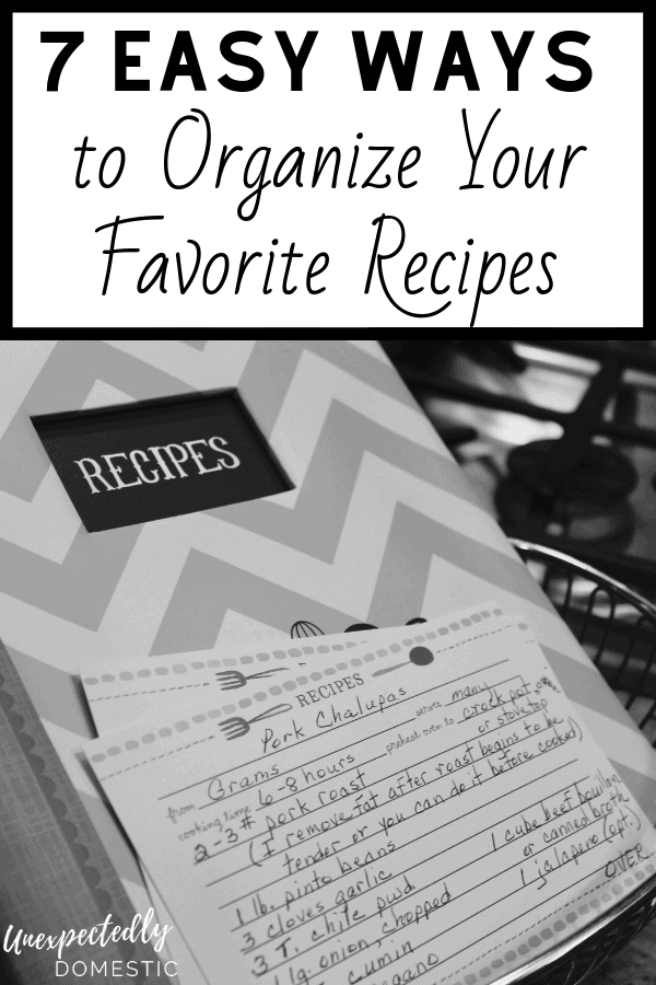 How to organize your recipes easily! Here are the best ways to organize and categorize your recipes - both paper recipes and online.