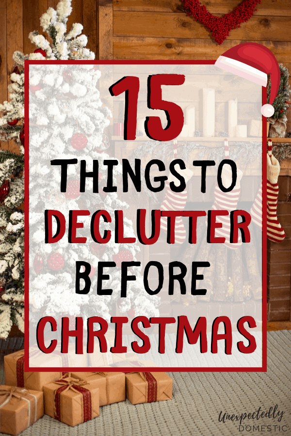 How to get rid of clutter fast before Christmas! Get rid of these unwanted things and declutter before the holiday season, so your home feels peaceful.