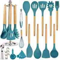 16-Pc Silicone Kitchen Cooking Utensil Set