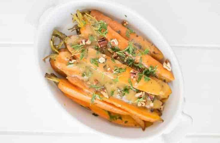 Orange, Honey and Herb Glazed Carrots