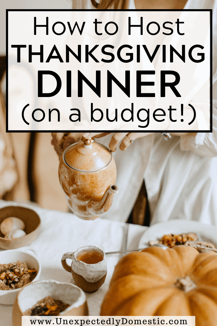 How to host Thanksgiving on a budget! 15 easy tips to save money on Thanksgiving dinner. Your guests will never know how little you spent!