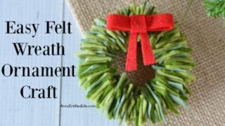 Felt Wreath Ornament Craft