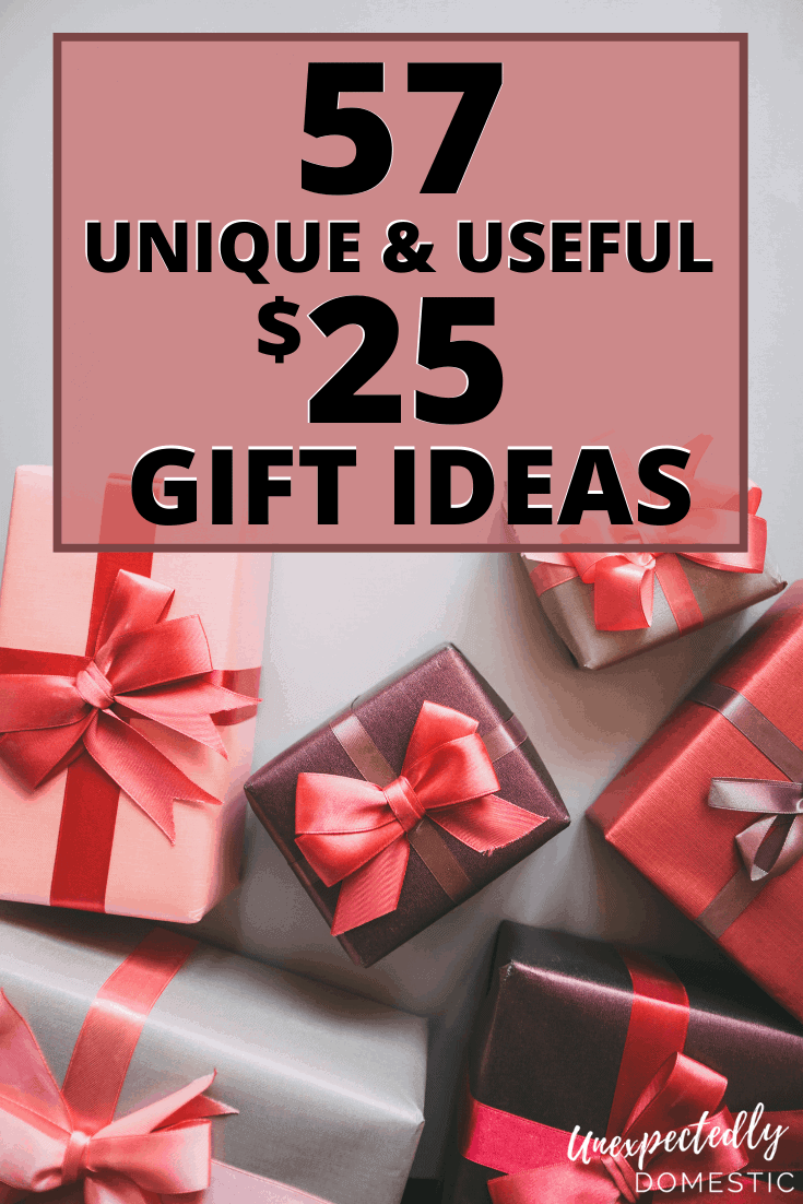 57 Creative unisex gift ideas under $25. Try these unique and useful gifts for guys, ladies, friends, or anyone on your list!