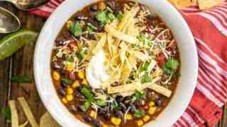 Black Bean Tortilla Soup