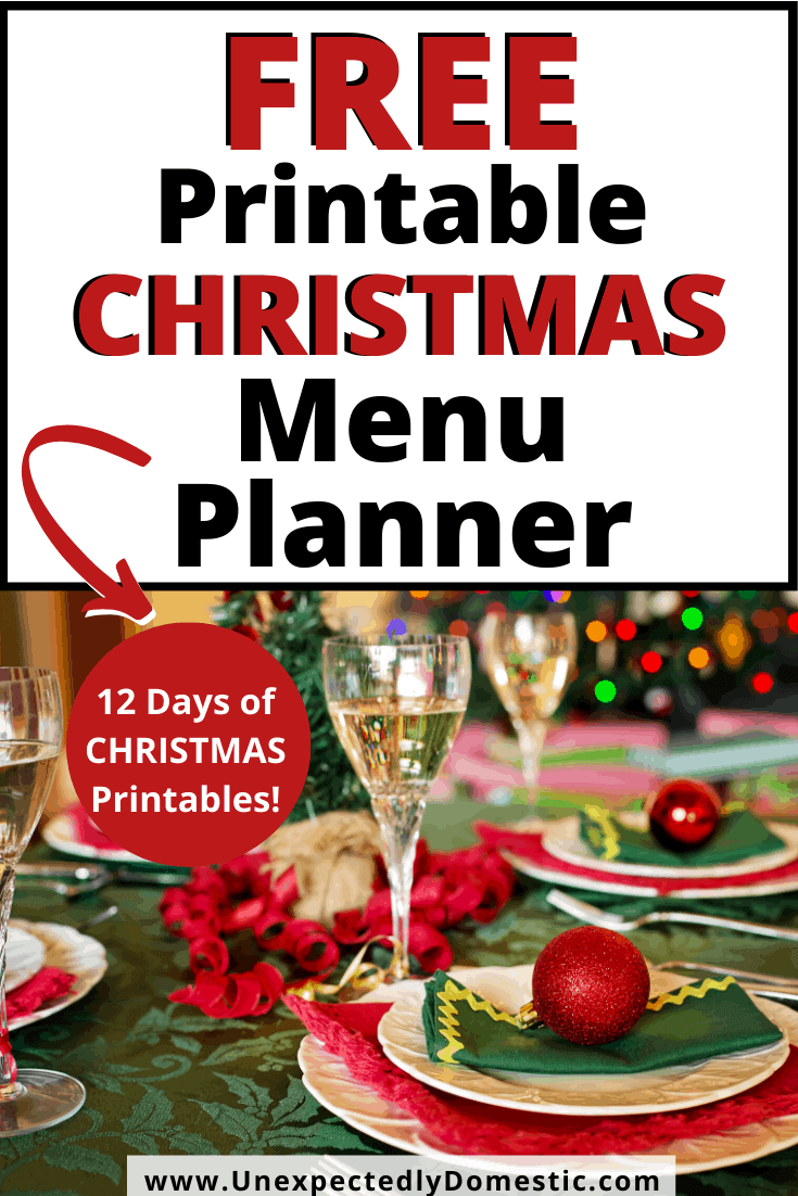 Free printable holiday meal planner! Plan your holiday menu easily - from appetizers and drinks, to the main course and side dishes!