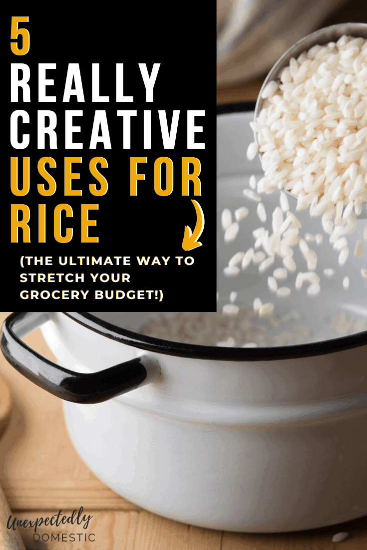 Creative uses for rice! How to stretch your food budget by using this simple pantry staple in a ton of unique, delicious ways.