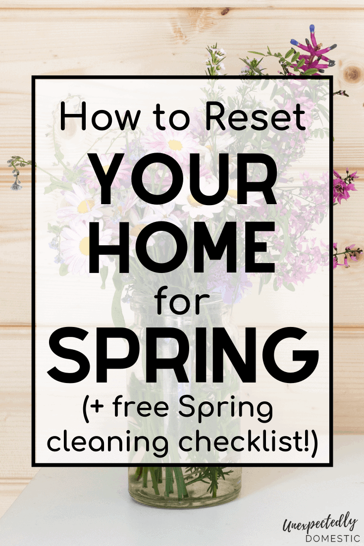 A simple spring cleaning checklist! How to plan your spring cleaning, tons of tips and tricks, plus a free printable checklist to tackle your spring cleaning the easy way!