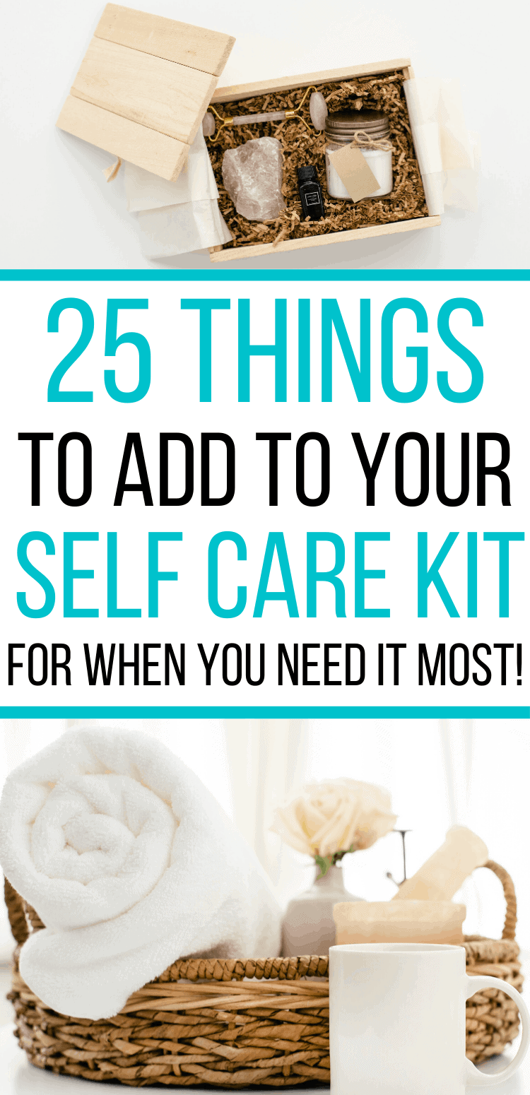 How to create your own self care kit! Ideas of what to put in your stress relief box, so you can pamper yourself when you need it most.