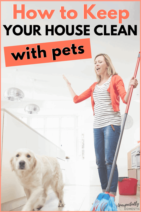 How to keep your house clean with cats and dogs! These are the best house cleaning tips for pet owners, so you can stay ahead of all that fur AND pesky pet odors.