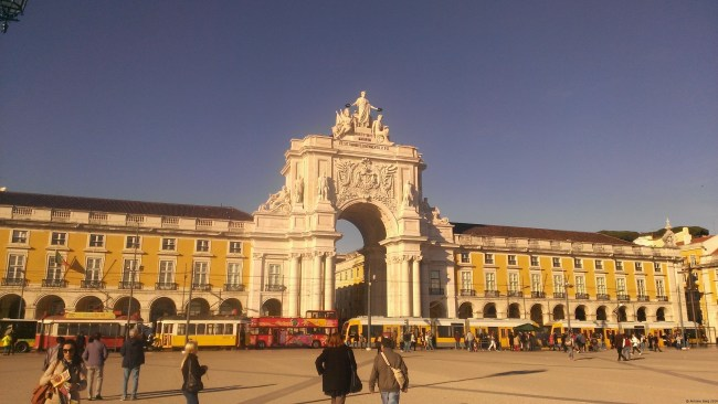 A photo of the Praça do Comércio in Lisbon, Portugal