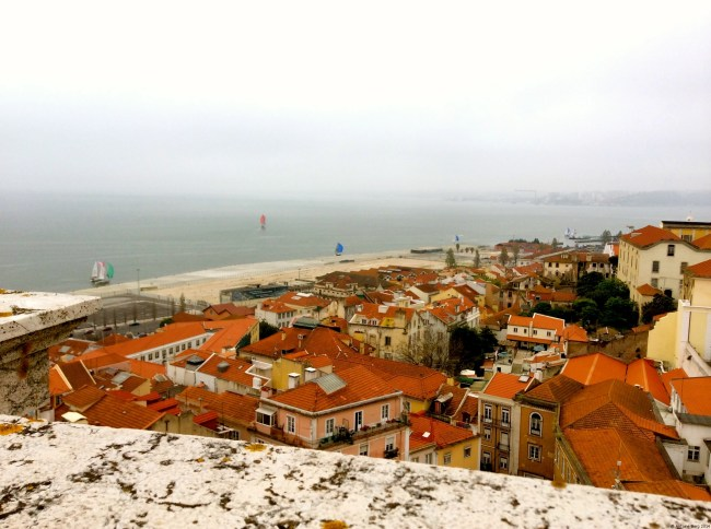 The rooftops of Lisbon and the Tagus from Santa Egrazia - Lisbon, Portugal