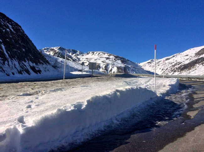 A photo of the road leading to Andorra from France