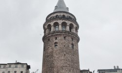 A photo of the Galata Tower - Istanbul, Turkey