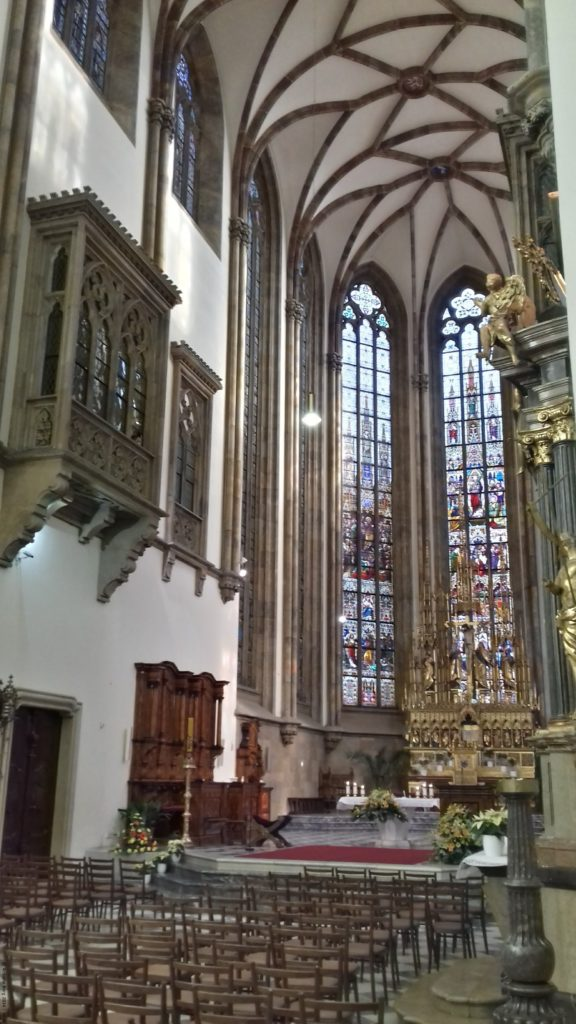A photo of the interior of St Peter and St Paul's Cathedral - Brno, Czechia