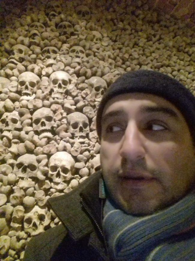 A selfie with the Brno Ossuary - Brno, Czechia