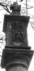 A photo of St Rosalie on a sundial - Prague, Czechia
