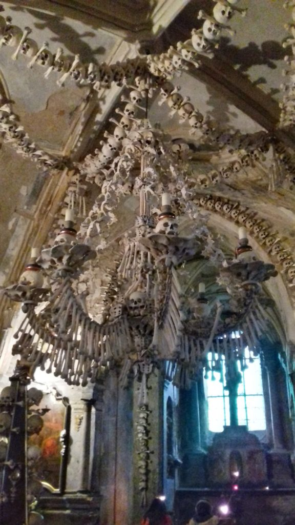 A photo of the Bone Chandelier - Kutna Hora, Czechia
