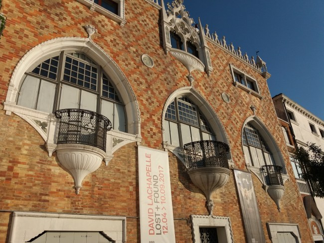 A photo of the facades on Giudecca Island - Venice, Italy