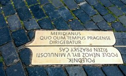 A photo of the Prague meridian - Prague, Czechia